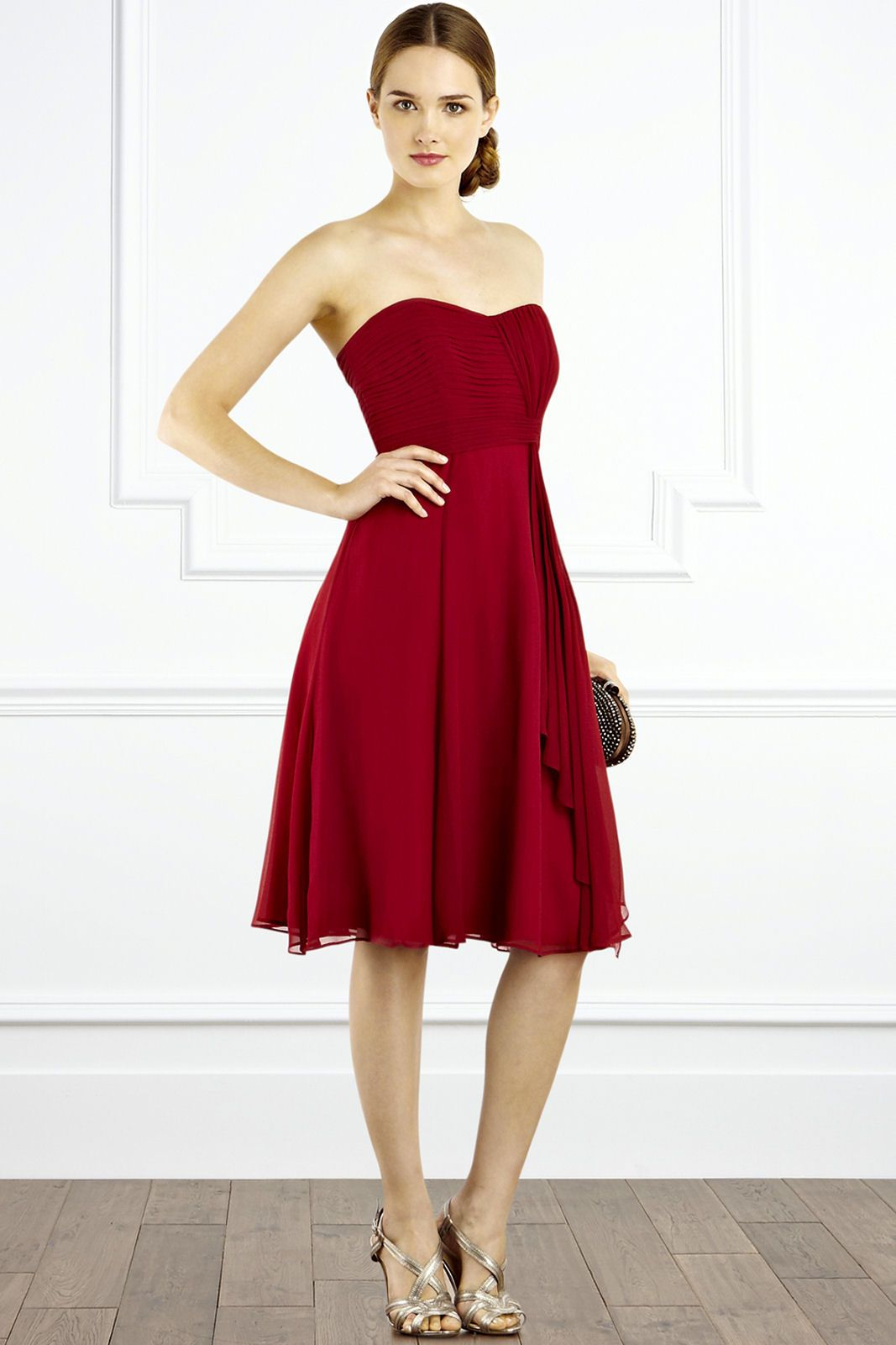 scarlet bridesmaid dresses - Google Search | Red and White ...