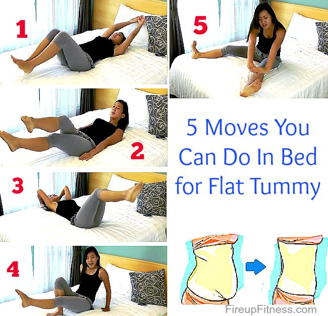 5 Moves For Flat Tummy You Can Do In Your Bed Flat