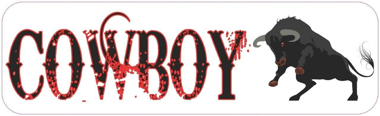 10 x 3 cowboy bull rider bumper sticker window decal vinyl stickers decals
