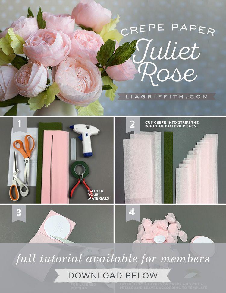 Crepe Paper Juliet Roses Crepe Paper Roses Crepe Paper Crepe