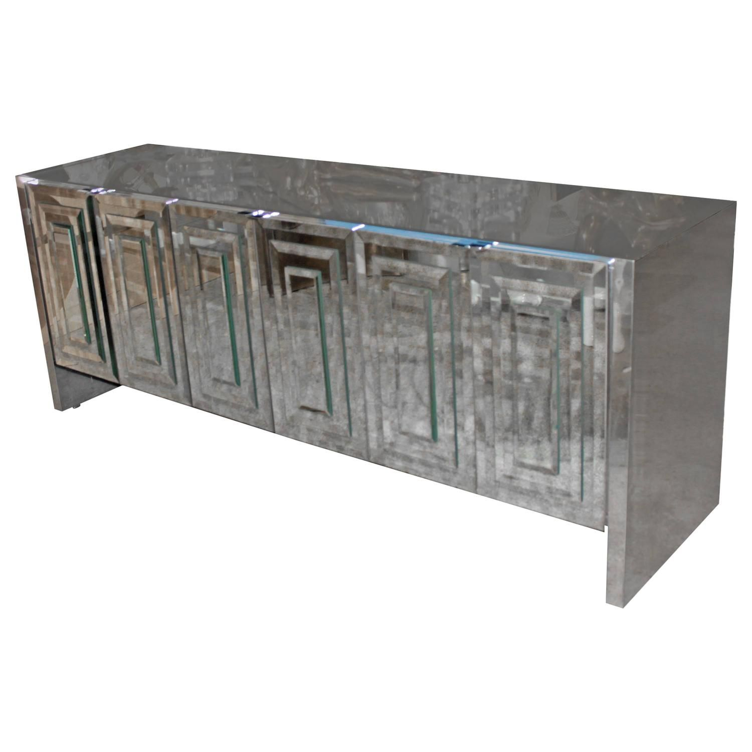 For Sale On   Vintage Iconic Ello Mirror Credenza Six Door. One Door Has  Some Tarnishing To The Top Of Mirror (see Picture.