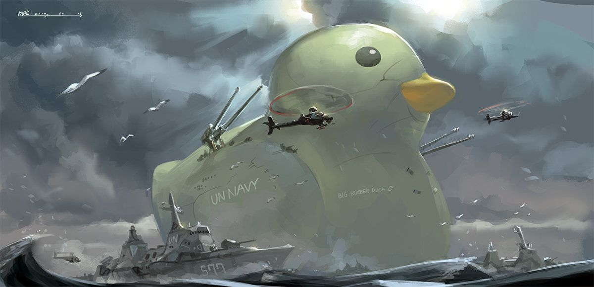 BIG RUBBER DUCK by Kare Huang