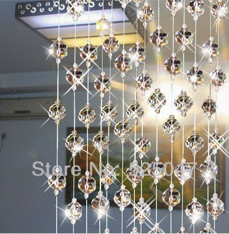 Crystal bead curtain for partition entranceway home decoration