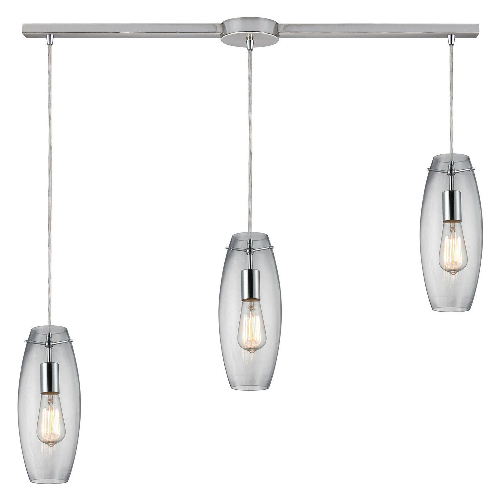 Elk lighting menlow park 600 linear pendant light 60054 3l elk lighting menlow park 600 linear pendant light the contemporary elk lighting menlow park 600 linear pendant light features a bar fixture in polished arubaitofo Image collections