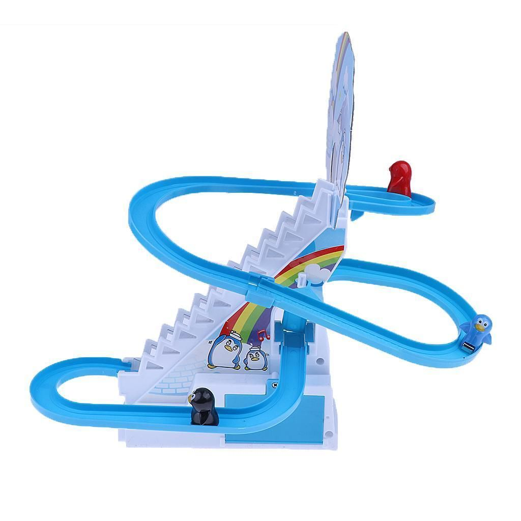 Track Toys Electric Penguin Music Assembled Climbing Games Kids Fun Gifts