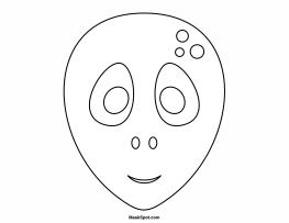 Alien Mask To Color Teatro Mascaras 1 Pinterest Aliens
