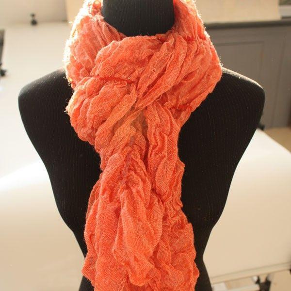 cute coral scarf