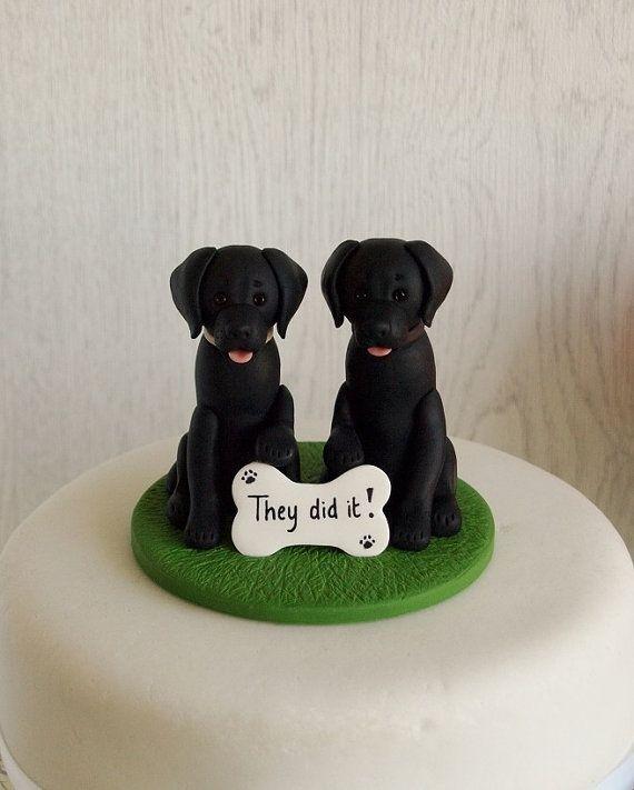 fc73957ede Black Labrador Cake Topper Dog Cake Topper Black Lab Cake   Someday we'll  get around to it. in 2019   Dog cakes, Dog cake topper, Fondant dog