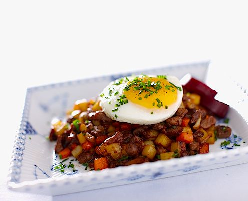 Swedish Hash (Pyttipanna) - This dish is often referred to as leftover food, but with some really good ingredients it can actually become quite elegant.