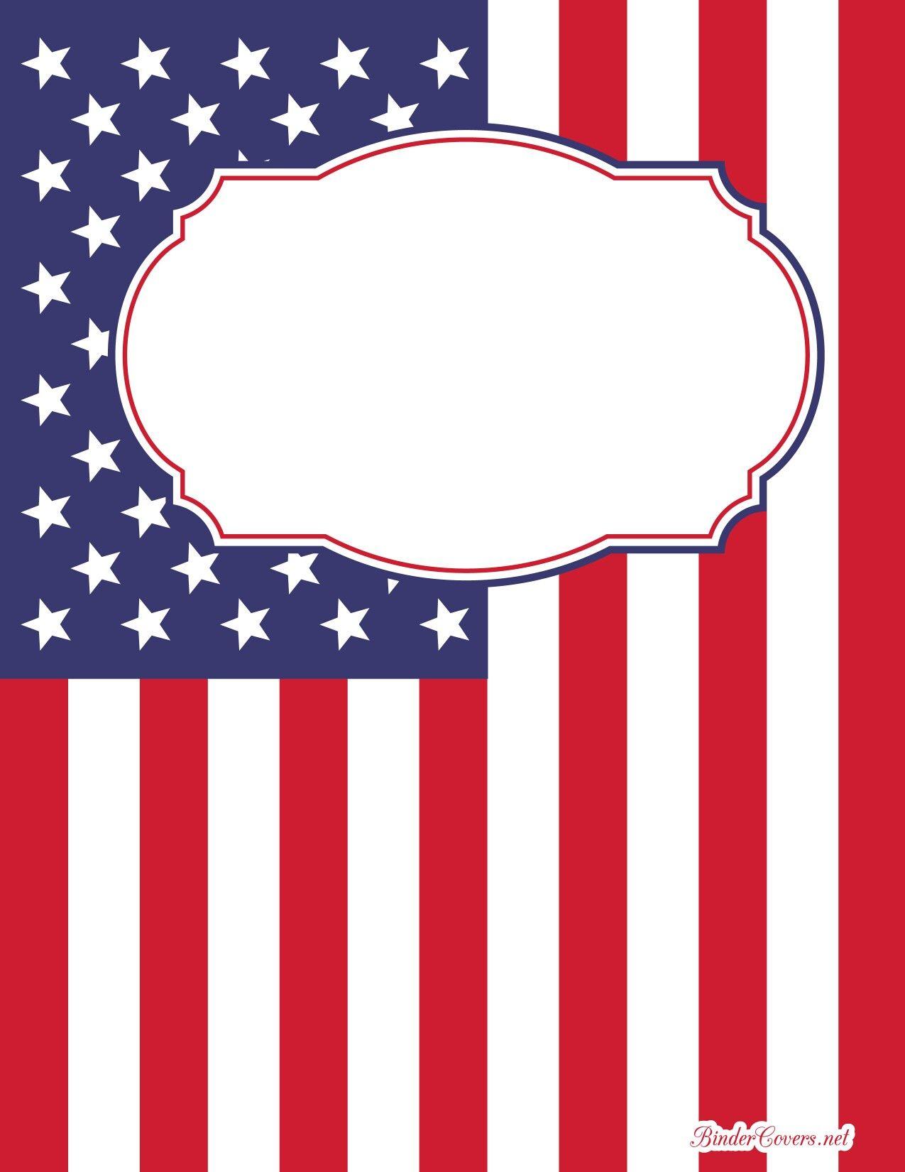 Portada bandera americana   binder covers   Cubiertas para ...