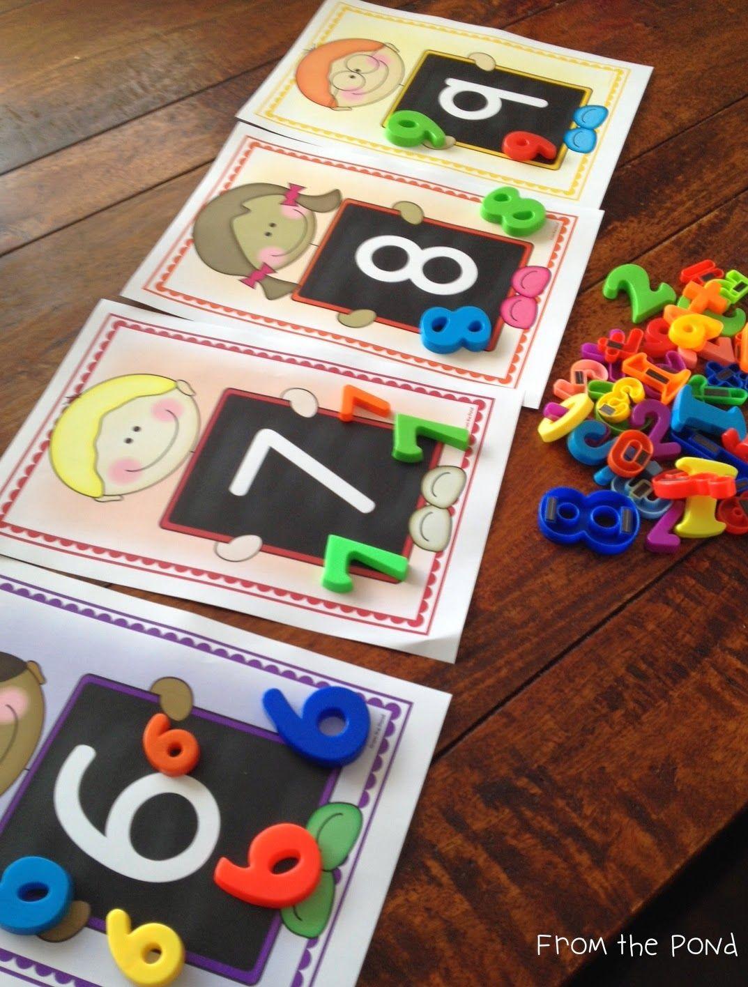 Peek at a Week of Numeral Identification! Preschool math
