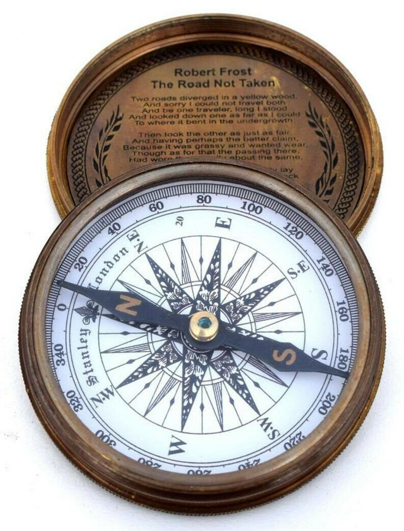 Vintage Maritime Marine Compass Poem Engraved Brass Compass Gift Buy It Now For 20 00 Compass Gift Vintage Compass Pocket Watch Drawing