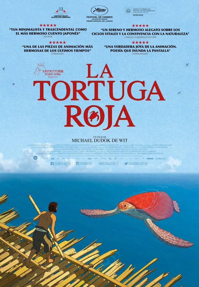 The Red Turtle Posters Japanese Animated Movies Studio Ghibli Movies Kids Movies