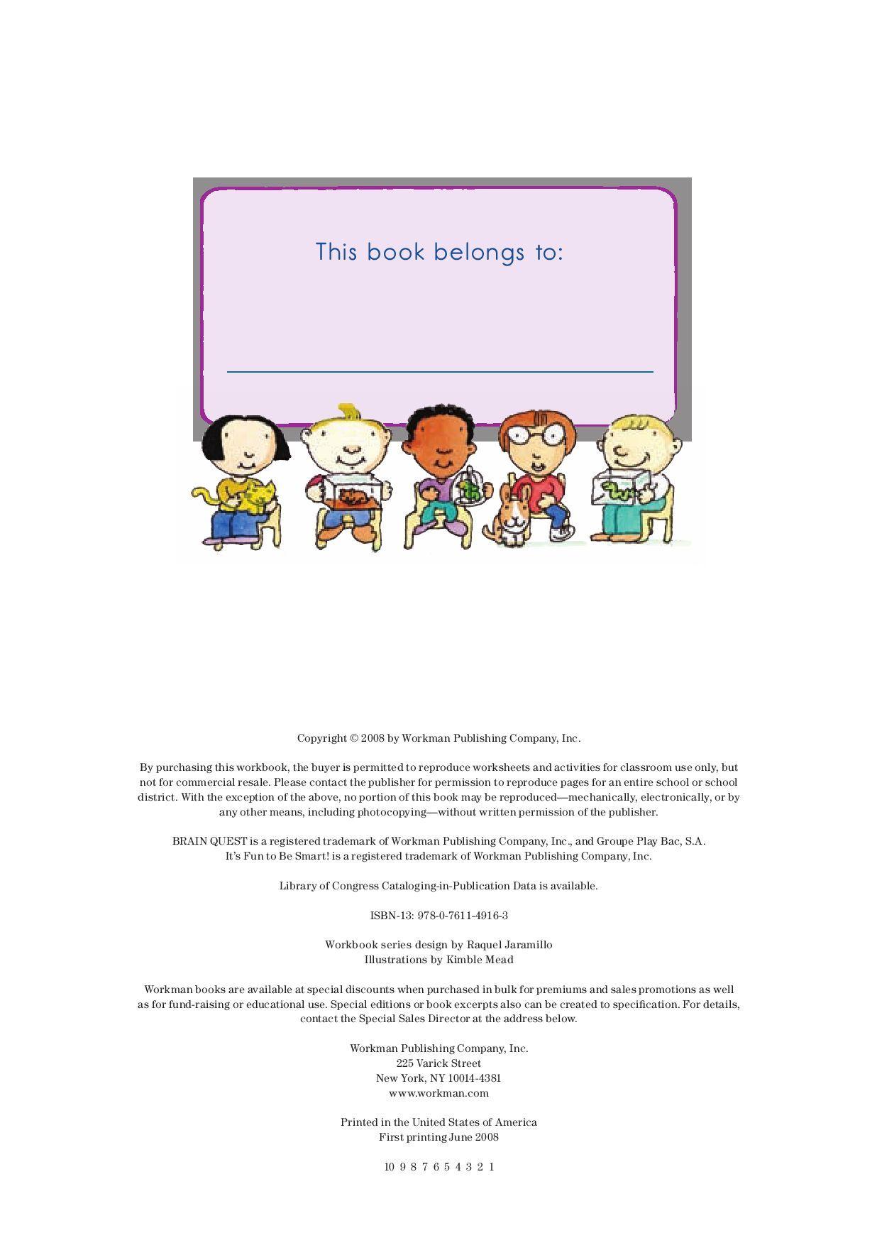 hight resolution of Brain Quest Workbook Grade 3   Workbook