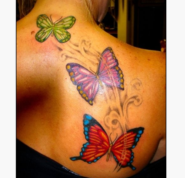 21 Butterfly Shoulder Tattoos For Girls Butterfly tattoo