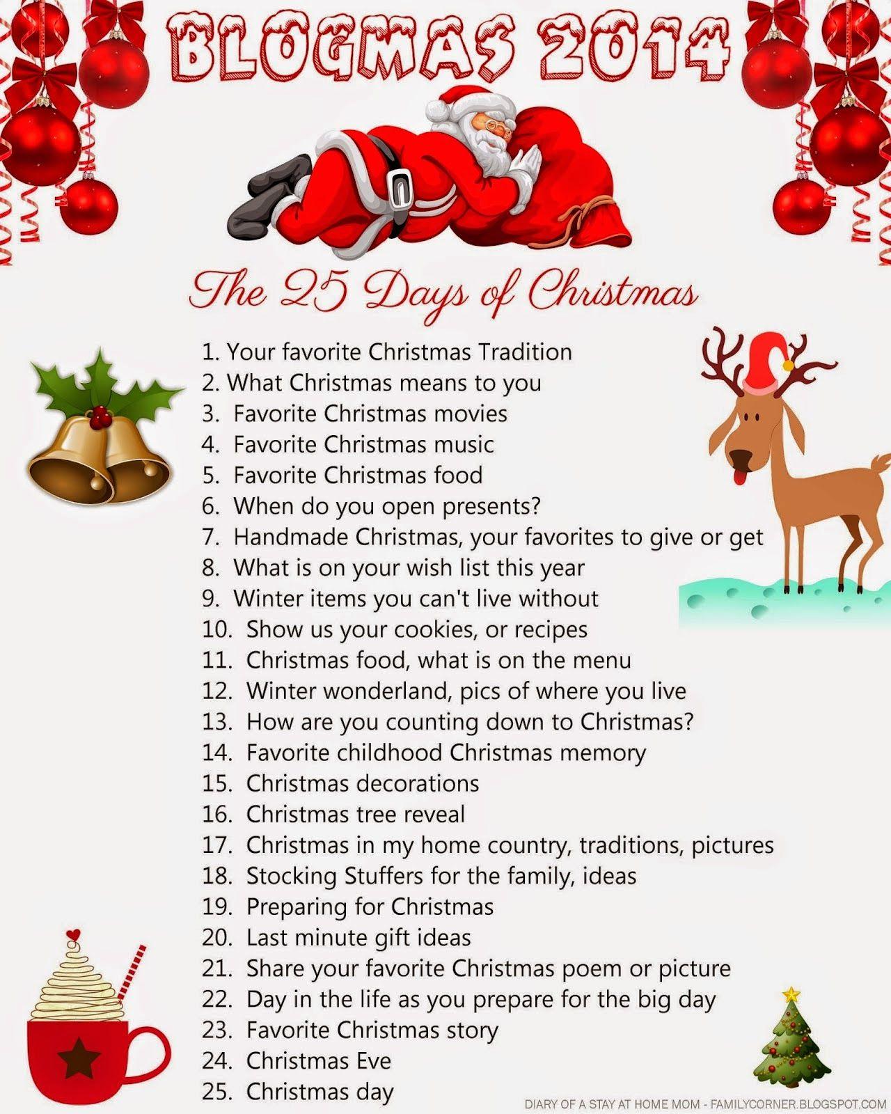 BLOGMAS 2014 DAY 1 25 days of christmas, Christmas