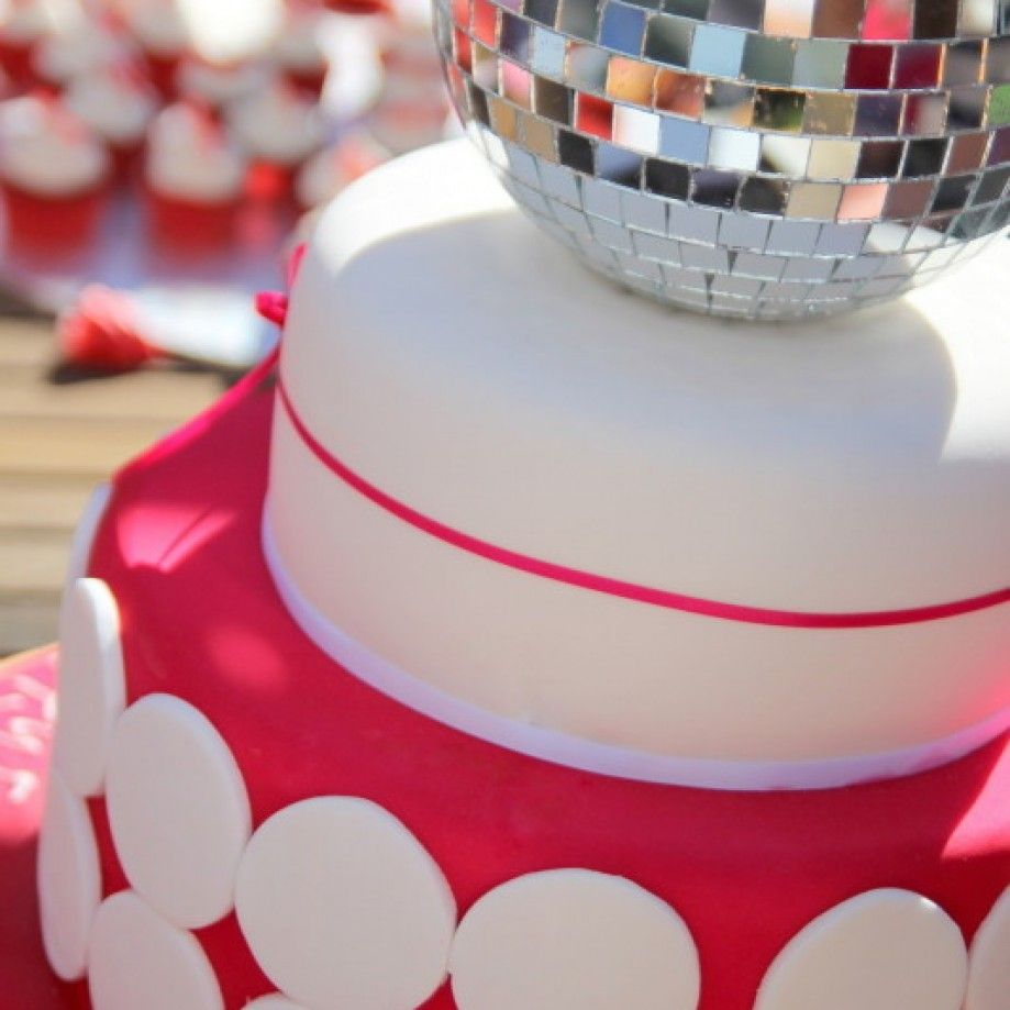 Disco Ball Cake via via Emma Townsend Cakes LITTLE GIRLS BIRTHDAY