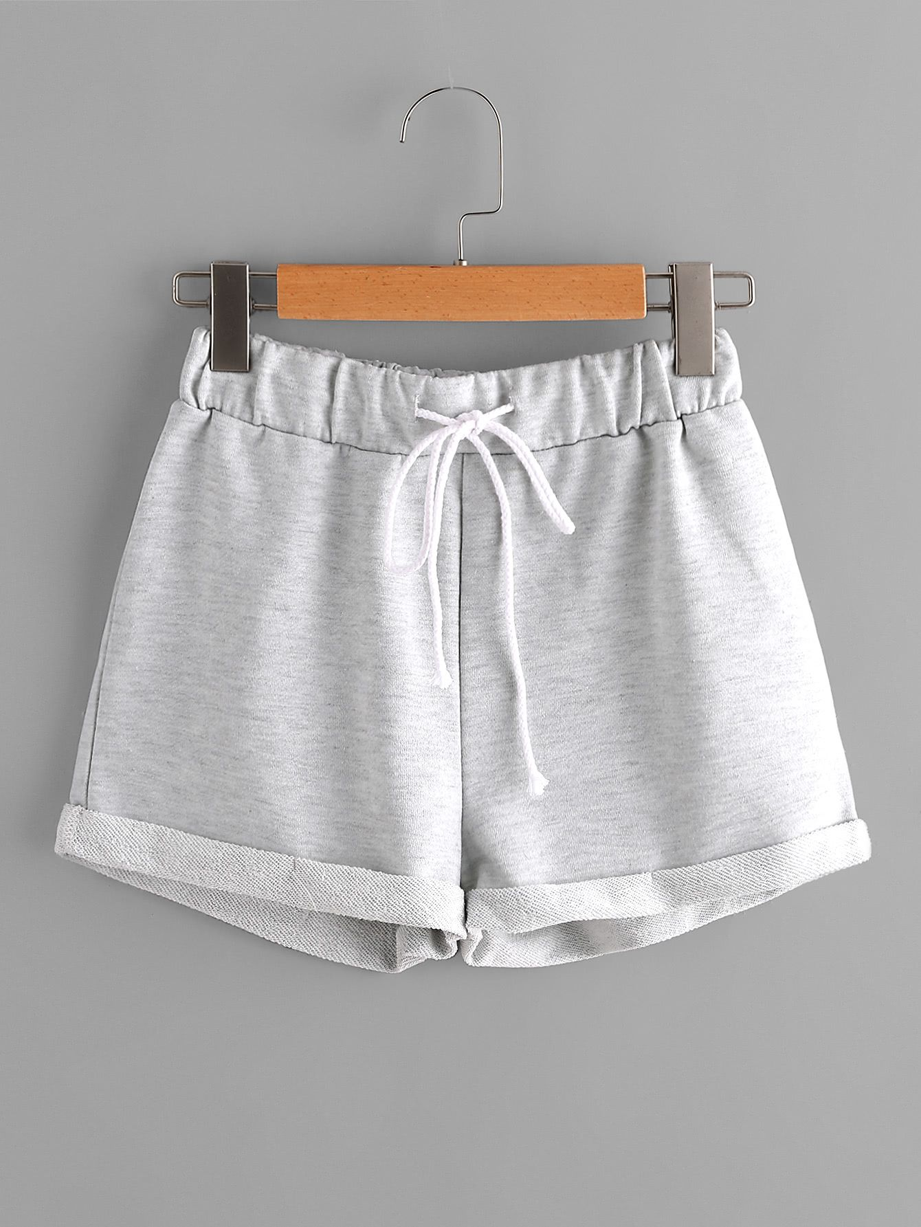 5039fd93b Heathered Knit Cuffed Shorts in 2019 | Wish list | Pinterest ...