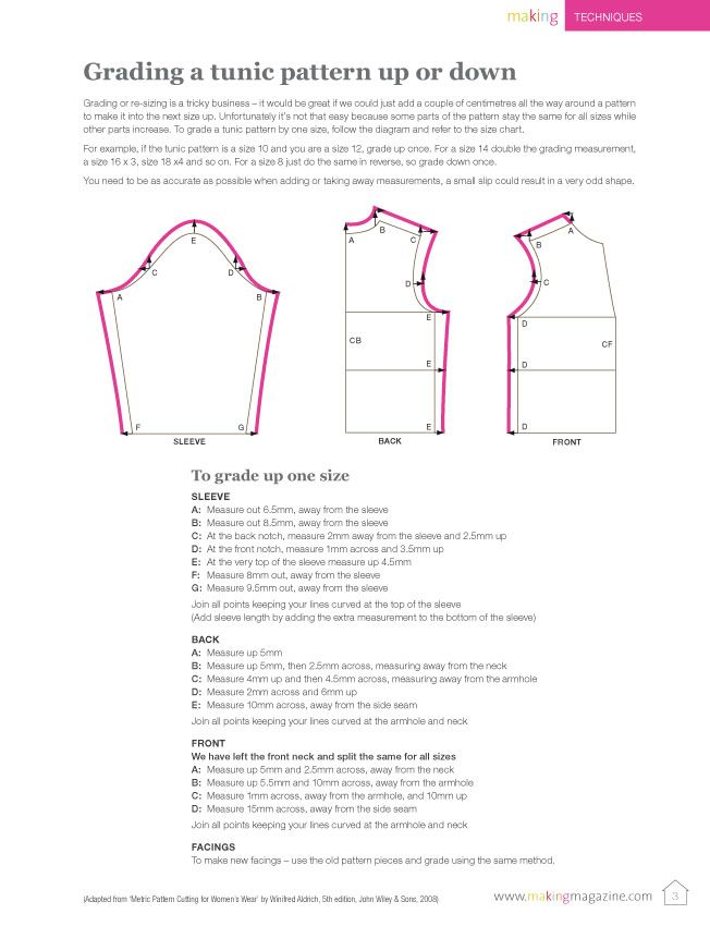 pattern grading guide   Grading Patterns   Pinterest   Pattern ...