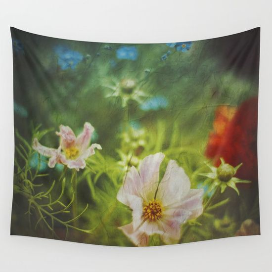 flwrs - summer flowers Wall Tapestry by Dirk Wuestenhagen Imagery. Worldwide shipping available at Society6.com. Just one of millions of high quality products available.