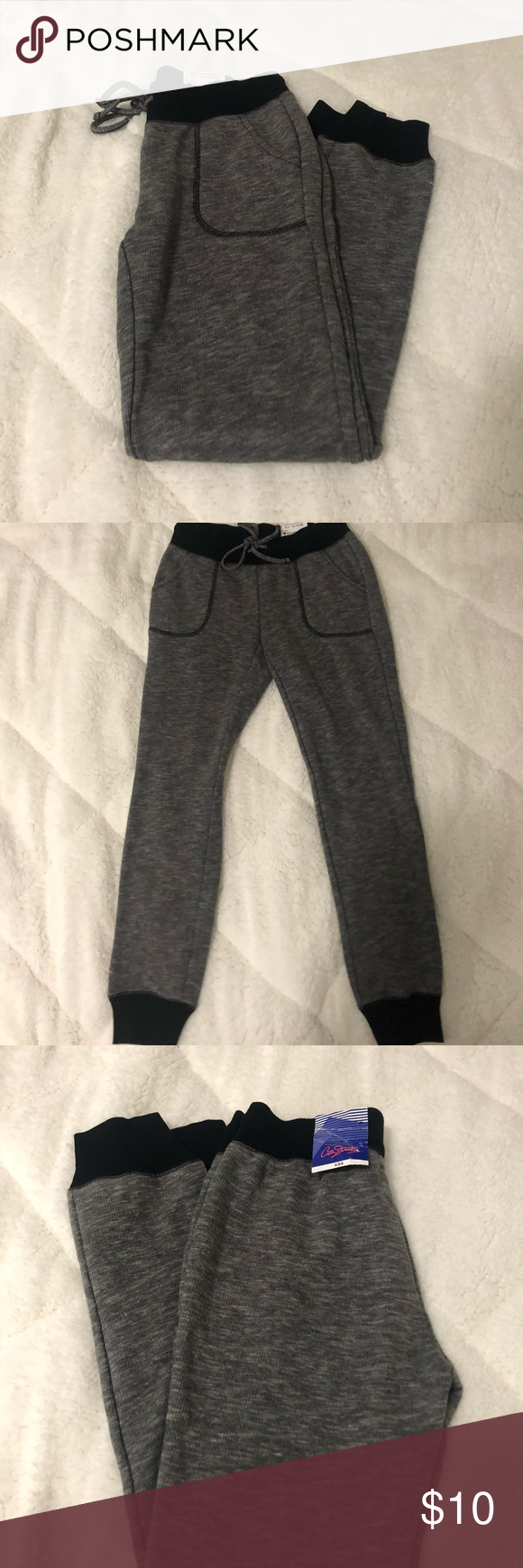 ffeb7ef8e643b Joggers by the brand City Streets from JCPenney Grey joggers with black  band. City Streets Pants Track Pants   Joggers