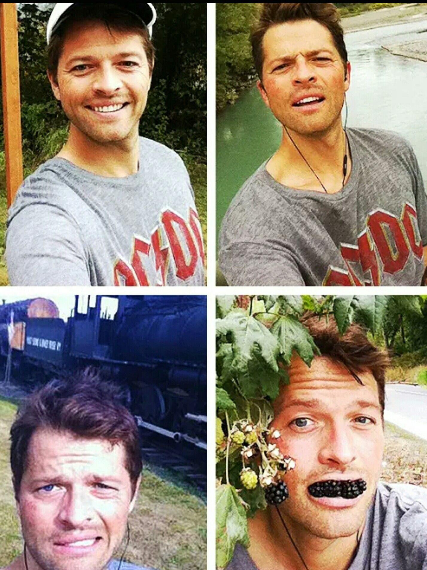 Misha Collins. I look up to this man...