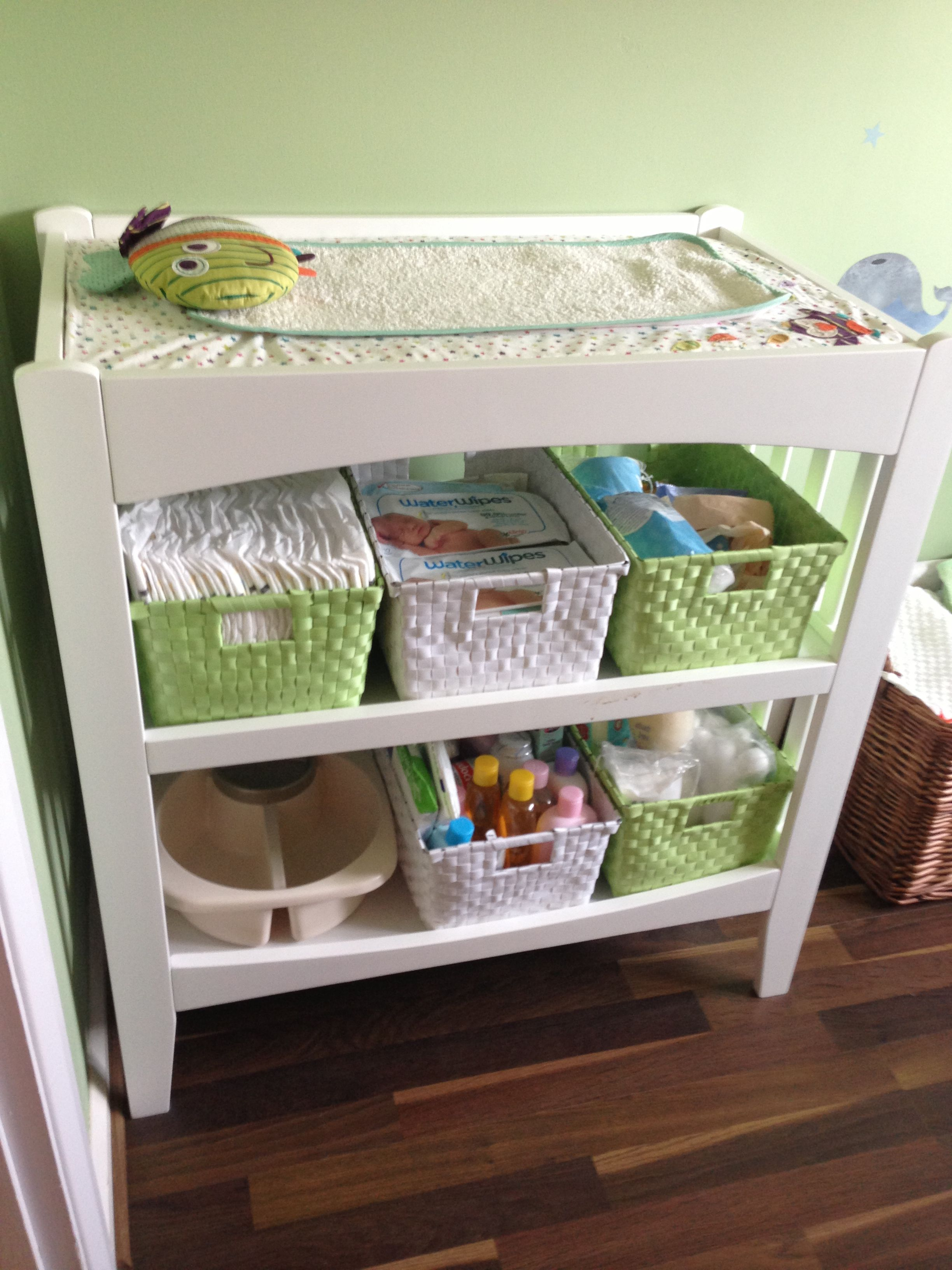 Baby change station storage and changing table with lots of room for all the necessities - Baby jungenzimmer ...