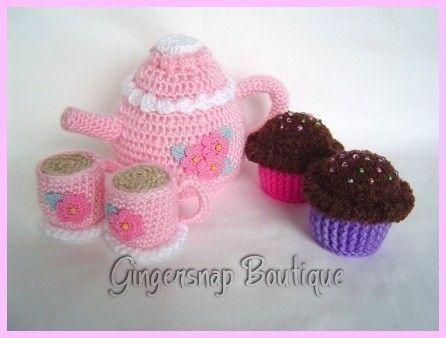Free Crochet Tea Set Pattern Gallery Knitting Patterns Free Download