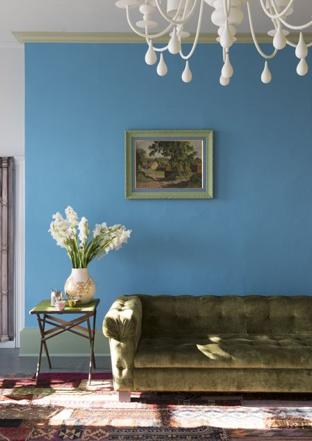 5 bold colors to brighten up your room st giles blue by farrow and ball color your walls. Black Bedroom Furniture Sets. Home Design Ideas