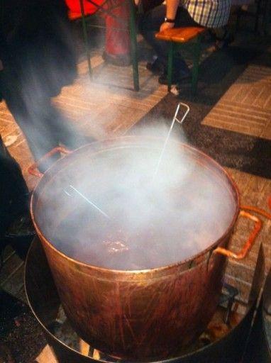 Large Pot Of Boiling Octopus In La Coruna Spain Spain Best