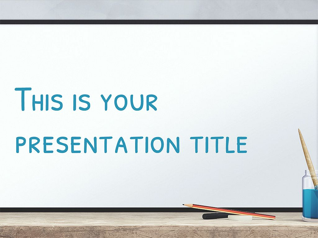 Free Education Presentation Design Powerpoint Template Or