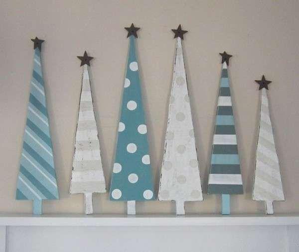 decoracin de navidad en madera fotos ideas originales originales rboles navideos en madera