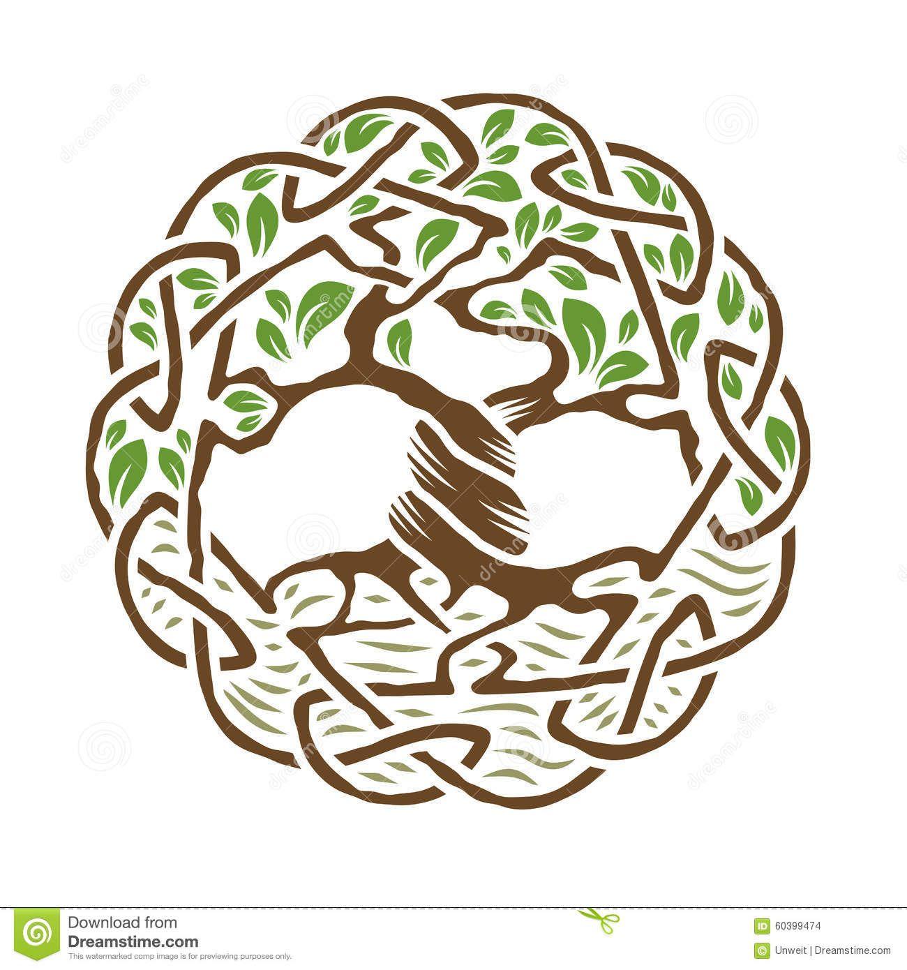 Baum des Lebens T-Shirt Mother Earth Green Living Druide Wicca Pagan Keltisch