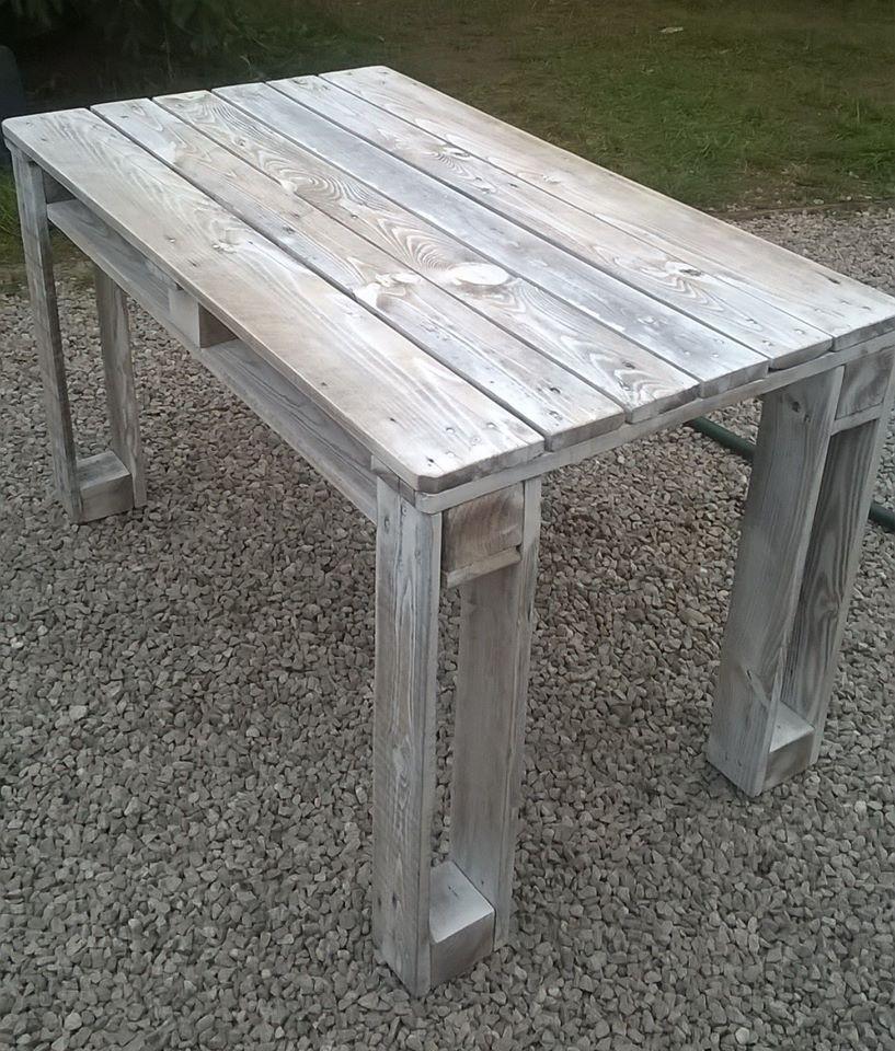 Diy Wood Pallet Furniture: DIY Pallet Reclaimed White Washed Tables