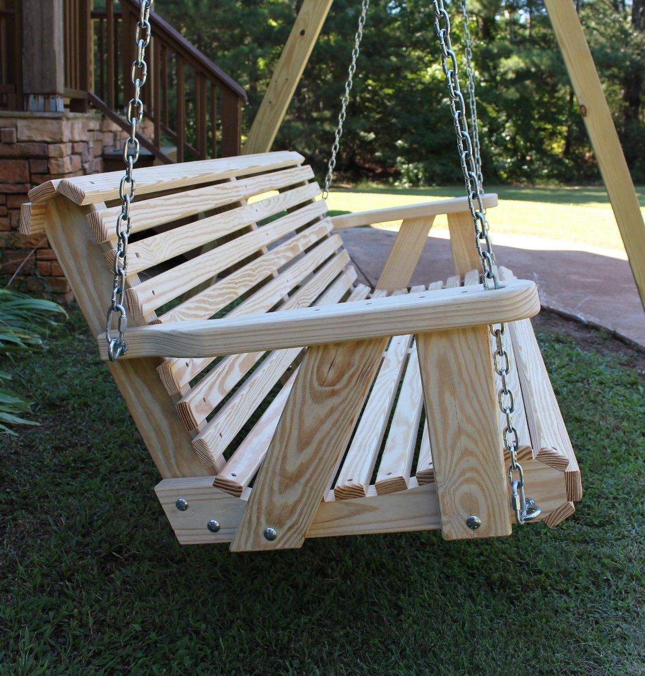 Roll Back Amish Heavy Duty 800 Lb 5ft Porch Swing Made In Usa