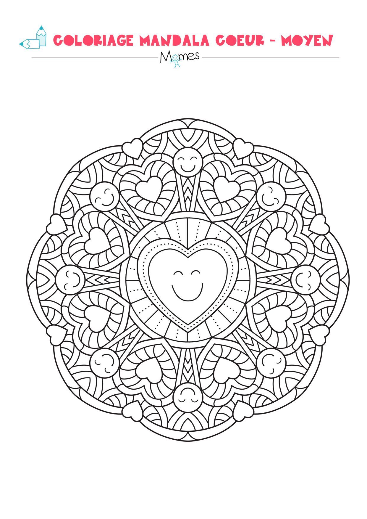 Outstanding Mandala Saint Valentin Photo - Printable Coloring Pages ...