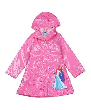 Look at this #zulilyfind! Pink Frozen Flower Raincoat - Toddler & Girls #zulilyfinds