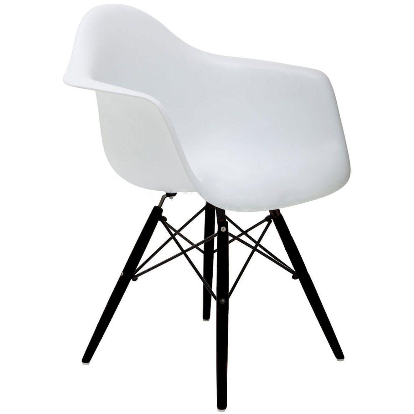 2xhome Set of 2 White Mid Century Modern Designer ...