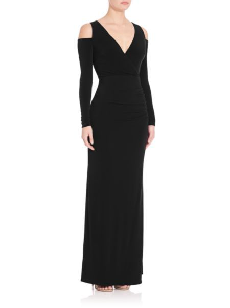 Laundry by Shelli Segal - Cold-Shoulder Gown