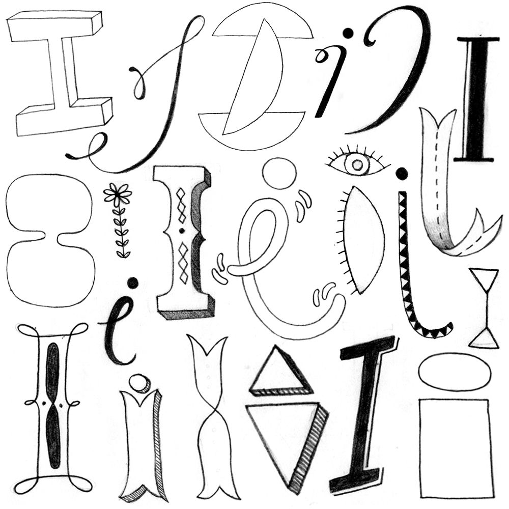 I By Abi Hall  Lettering    Hall Fonts And Doodles