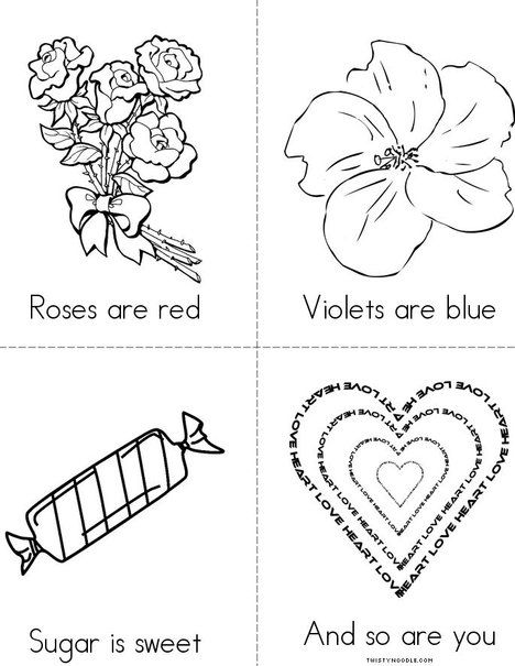 Roses Are Red From Twistynoodle Com Valentines Day Coloring Page
