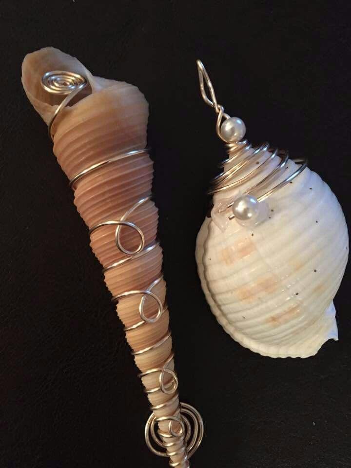 Photo of Drahtumwickelte Schalen #wrap #shells #wrapped, #Drahtumwickelte #makingjewelrywithshells #S …