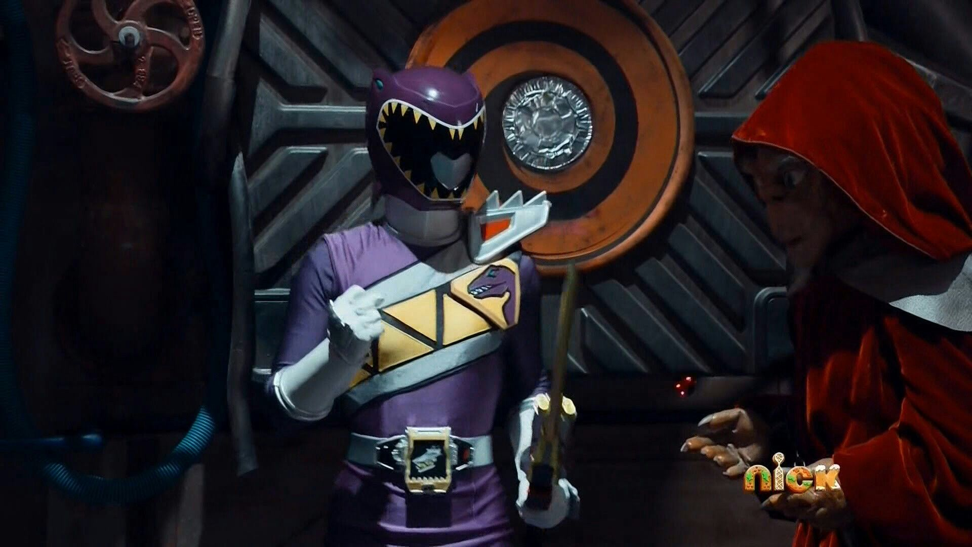 The Dino Charge Power Ranger The Purple Ranger And Keeper Power