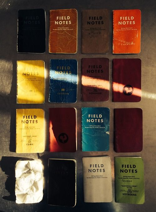 Field Notes pinned from Abacus Row tumblr feels Pinterest - field note