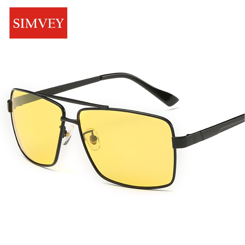 6ba2a3e1ee8 Simvey Men Alloy Night Driving Polarized Sunglasses Hd Vision Night Driving  Glasses Anti Glare Vision Driver Oculos Eyewear  Affiliate