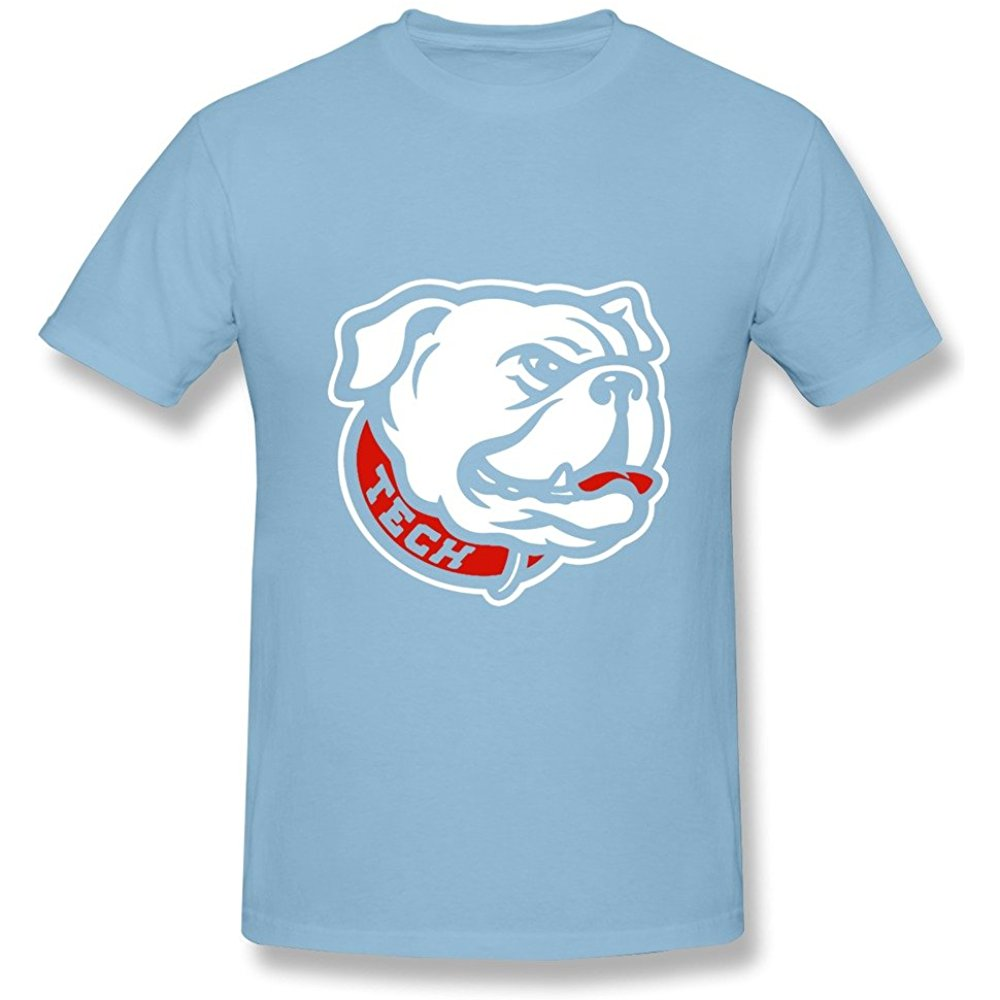 LQYG Mens T Shirt Louisiana Tech Bulldogs Football Mascot