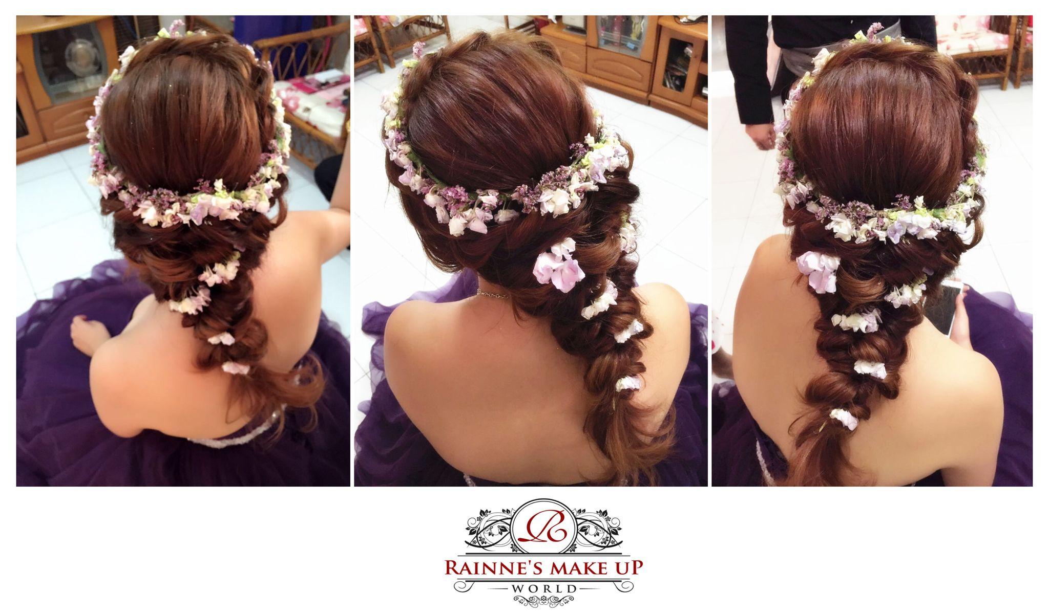 Fresh flower crown bridal hairdo 2016malaysia makeup artistrainne fresh flower crown bridal hairdo 2016malaysia makeup artistrainne yap rainne izmirmasajfo