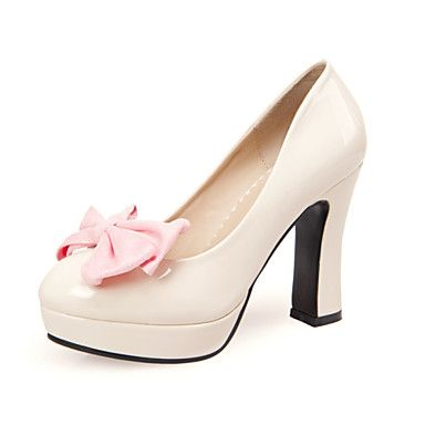 Women's Shoes Leatherette Spring / Summer / Fall Wedges / Heels Heels Office  & Career / Dress / Casual Chunky Heel