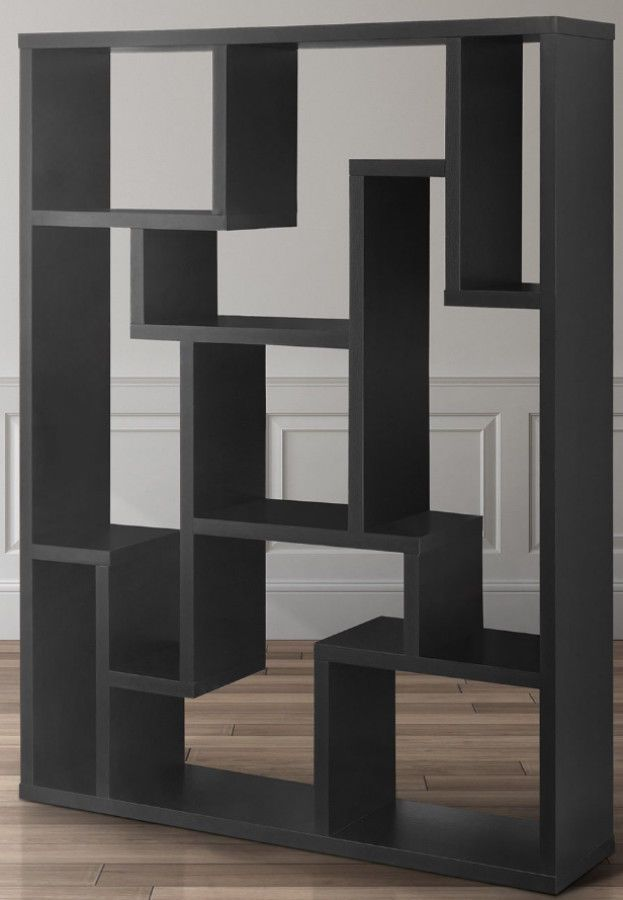 Modern Wooden Geometric Bookcase Media Display Shelves Storage Room Divider Roomdividerbookcase Living Room Divider Storage Shelves Modern Wood