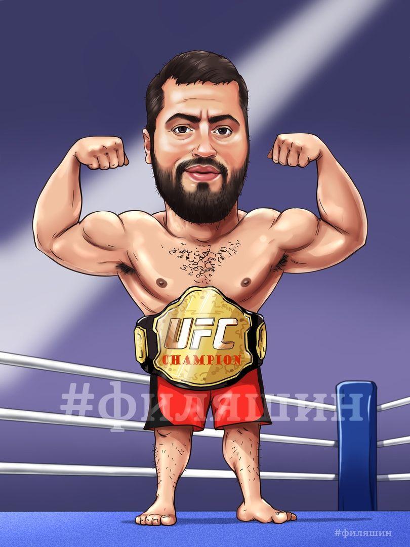 Sharzh Bojca Mma Caricature Man Filyashin Sharzhi Mma Boibezpravil Art Caricature Artman Caricaturas Desenhos